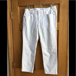 Ann Taylor Loft White Modern Cropped Jeans